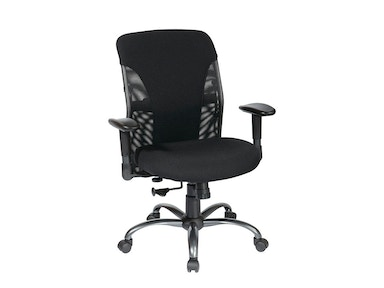 Office Star Products High Back Multi Function Ergonomic Chair With Ratchet Back Height And 2-way Adjustable Arms. 2907-B