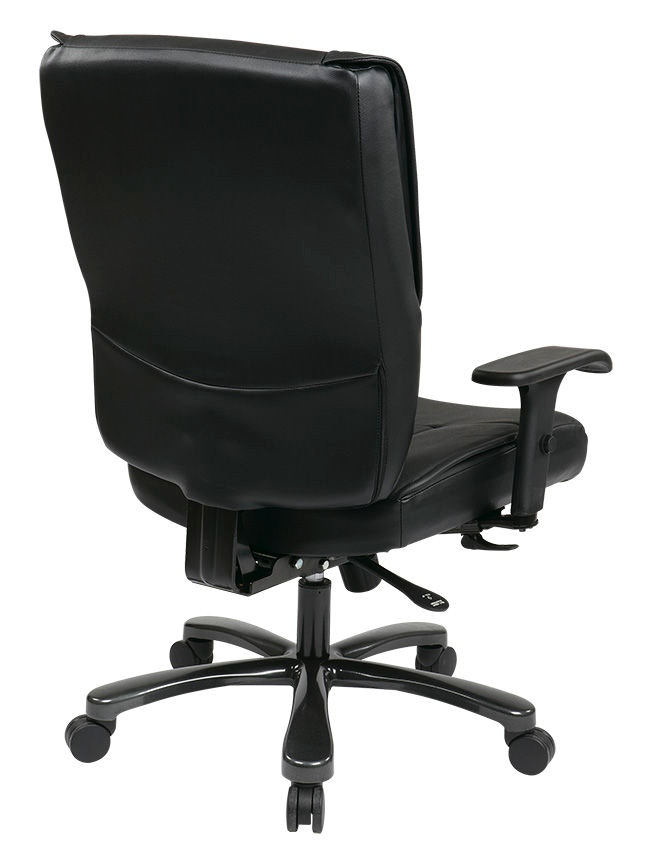 Office Star Products Big And Tall Deluxe Black Executive Leather Chair 7600R