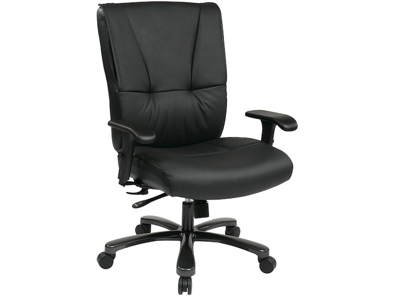Office Star Products Home Office Big And Tall Deluxe Black Executive Leather Chair 7600r Interior