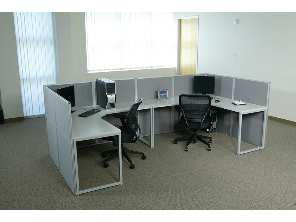 Office star products home office configuration 4 four - Home office furniture components ...