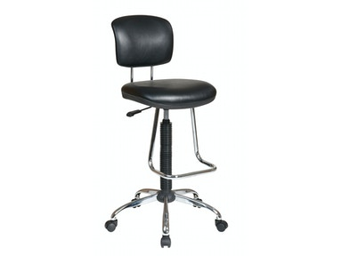 Office Star Products Chrome Finish Economical Chair DC420V-3