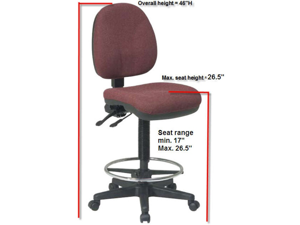 Office Star Products Home Office Deluxe Ergonomic Drafting Chair Four States Furniture