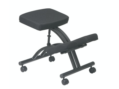 Office Star Products Black Ergonomically Designed Knee Chair KCM1420