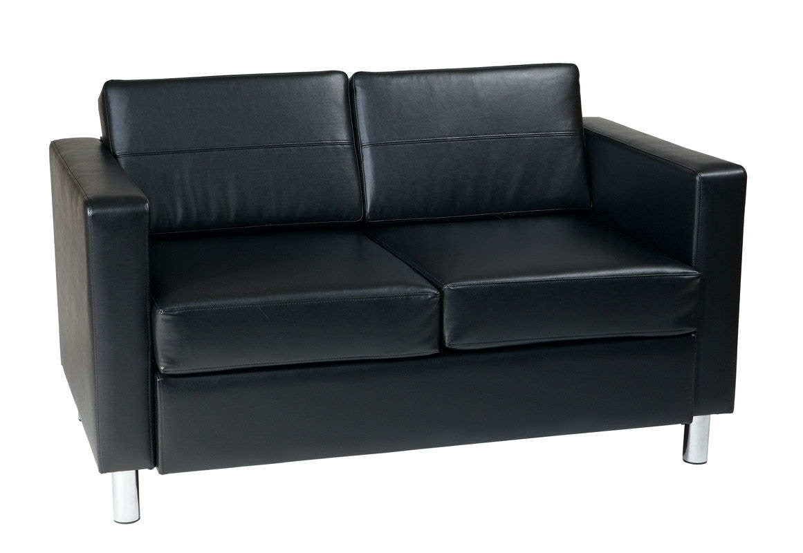 Office Star Products Pacific Loveseat In Black PAC52 V18