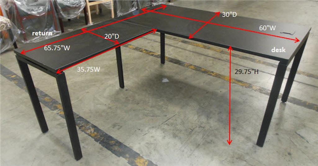 Office Star Products Prado Complete L Workstation In Black Prd3060 Blk