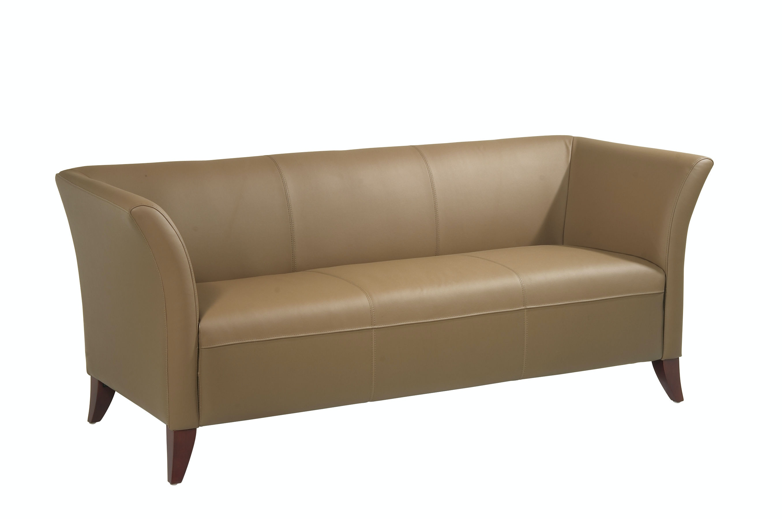 Office Star Products Taupe Leather Sofa SL1873