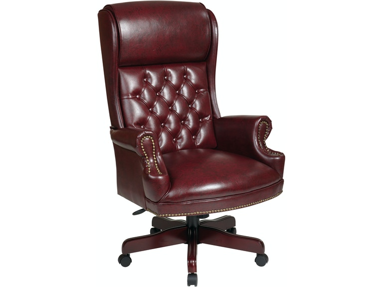Office Star Products Deluxe High Back Traditional Executive Chair Tex2284