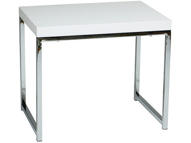 Office Star Products Wall Street End Table WST09-WH
