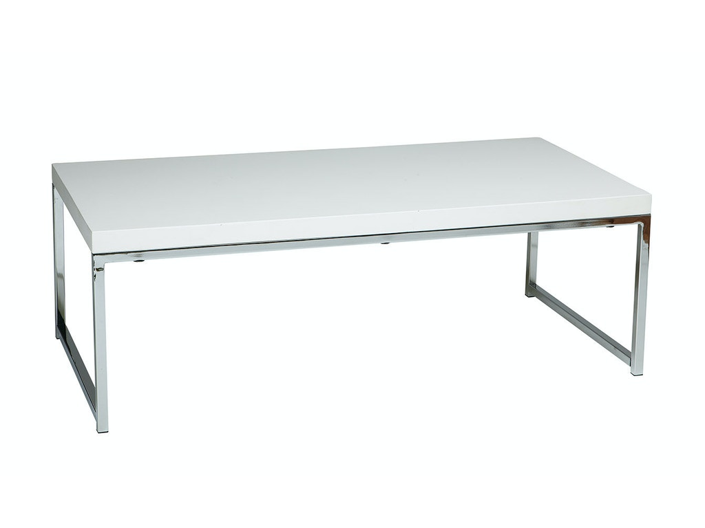 Office star products home office wall street coffee table wst12 wh ave six wall street coffee table chromewhite finish wall street coffee table wst12 wh office star products geotapseo Choice Image