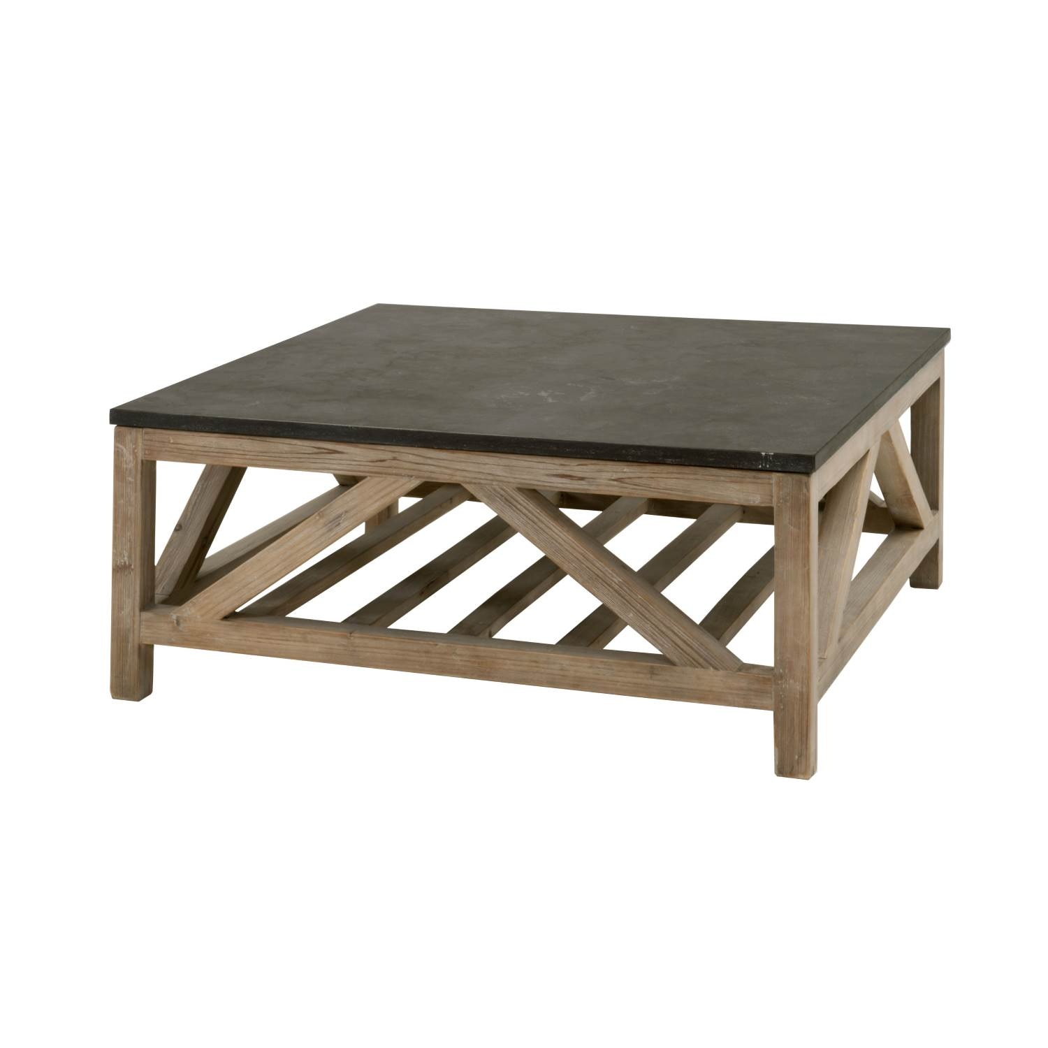 Orient Express Furniture Blue Stone Square Coffee Table 8022SQ.SGRY PN/BLU
