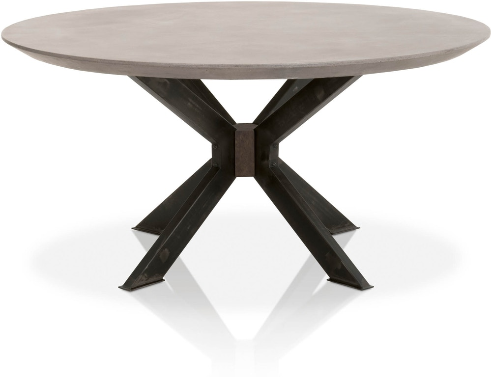 Essentials For Living District Industry 60 Round Dining Table 4632 Rd Blk Agry Portland Or