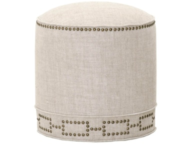 Orient Express Furniture Marlow Round Footstool 6436.BIS-GLD