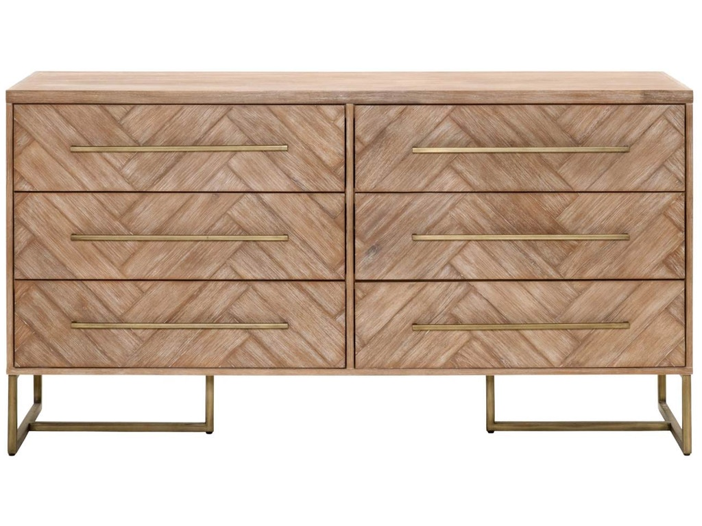 Orient express furniture bedroom mosaic double dresser for Furniture express