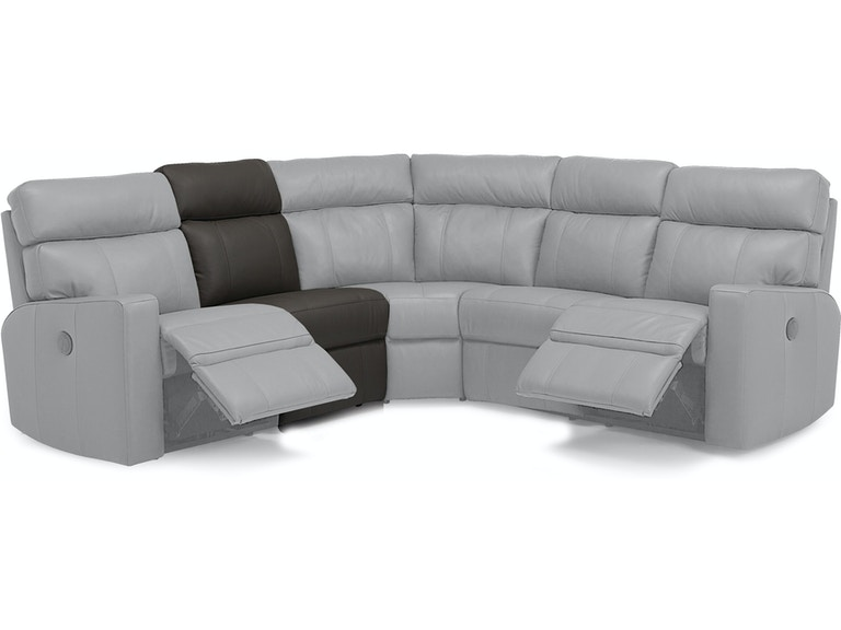 5-Seat Corner Curve Reclining Sectional