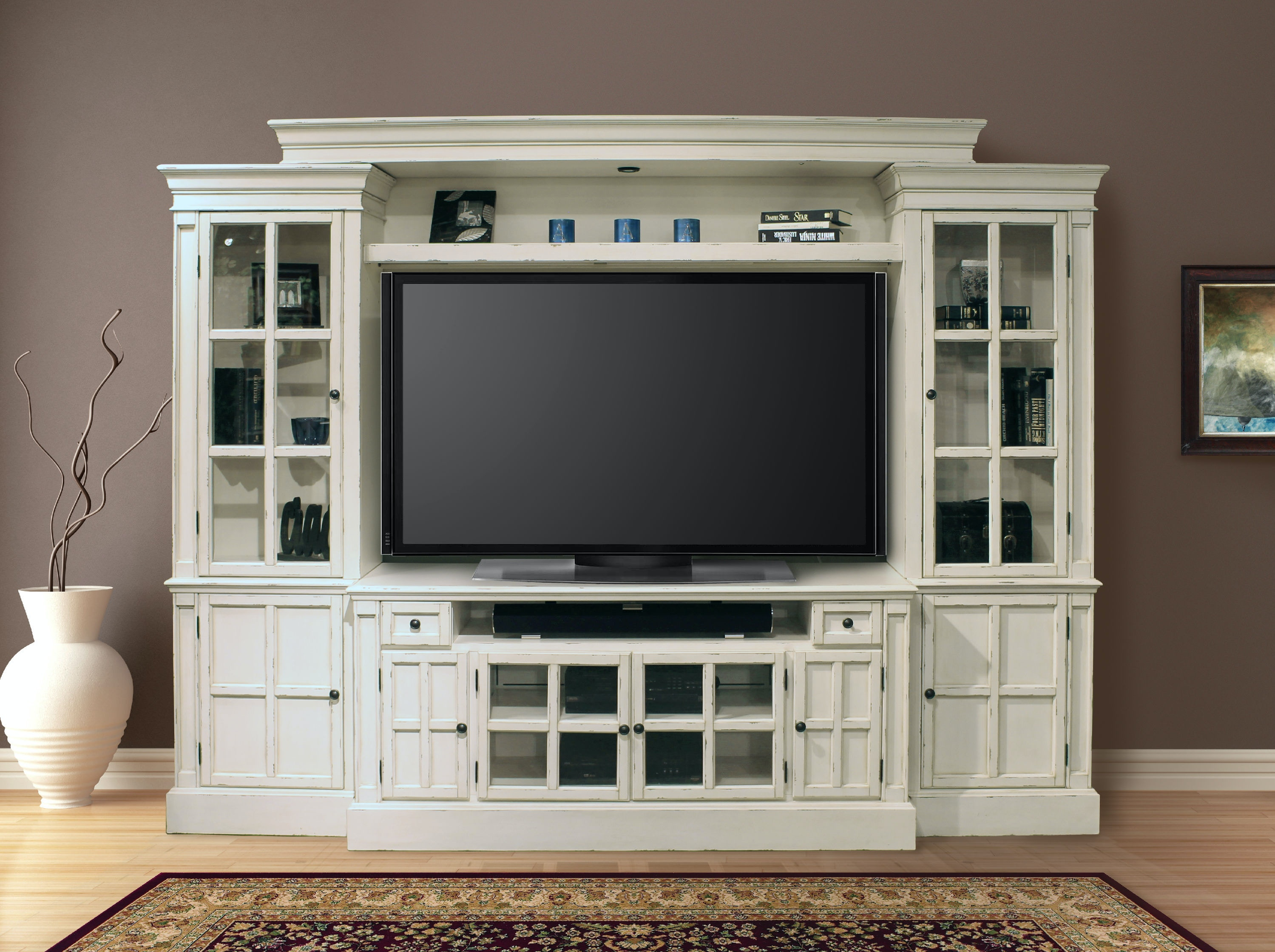 Parker House 4 Piece 62 Inch Entertainment Wall CHA 162 4
