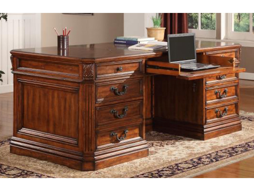 Parker house home office double pedestal executive desk ggra 9080 3 robinson 39 s furniture Robinson s home furniture philippines