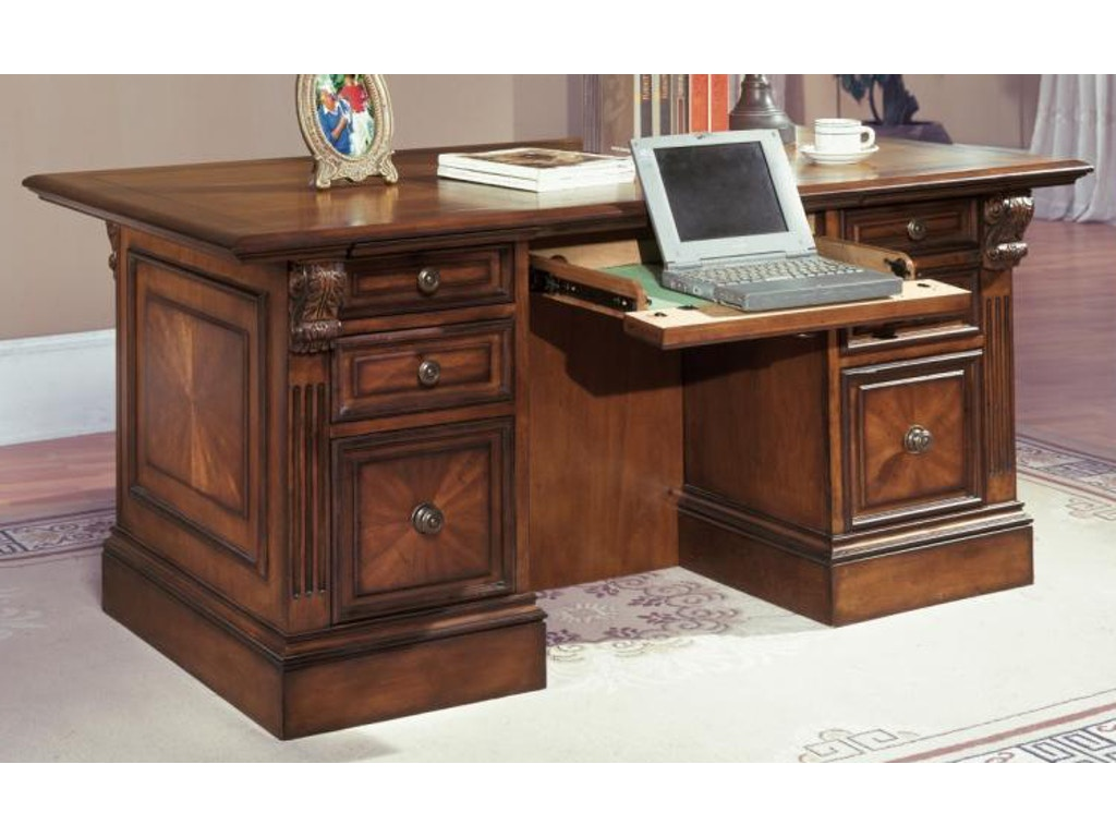 Parker house home office double pedestal executive desk hun 480 3 robinson 39 s furniture Robinson s home furniture philippines