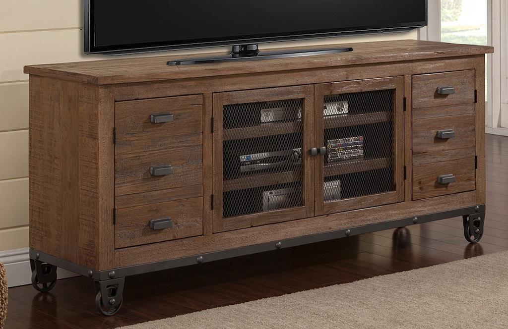 Groovy Parker House Home Entertainment 76 Tv Console W Wheels Lap Machost Co Dining Chair Design Ideas Machostcouk