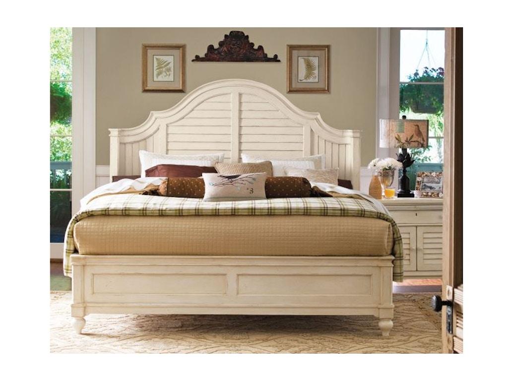 Paula Deen By Universal Bedroom Steel Magnolia Bed King 6
