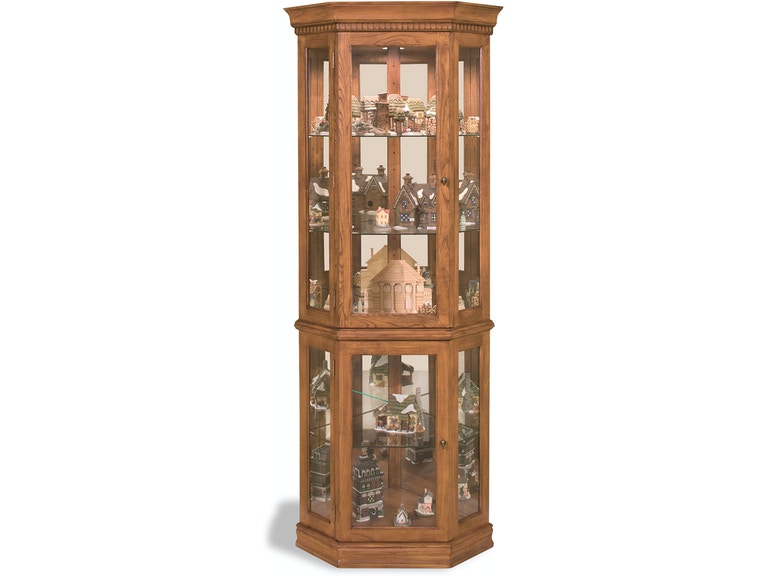 Philip Reinisch Living Room Classic Oak Corner Curio Cabinet ...