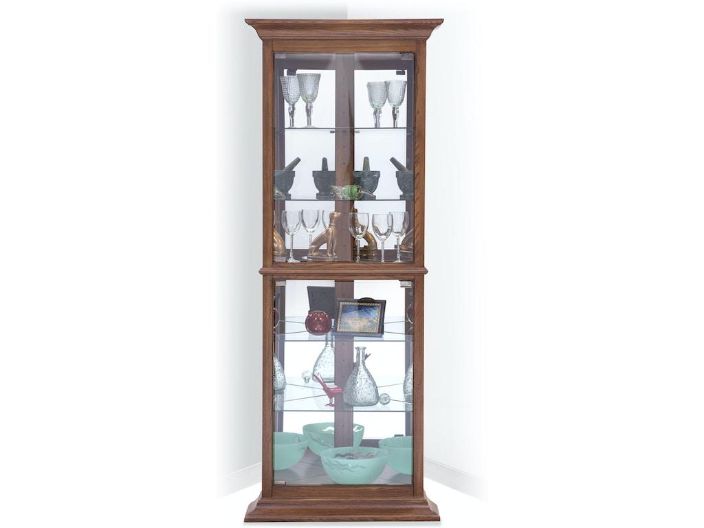 Philip Reinisch Living Room Fairfield I Corner Curio Cabinet ...