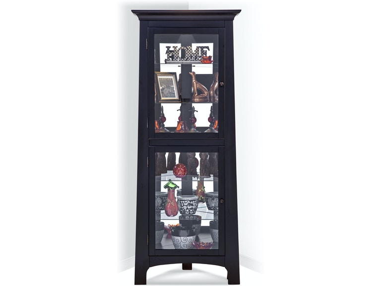 Philip Reinisch Living Room Lancaster I Corner Curio Cabinet ...