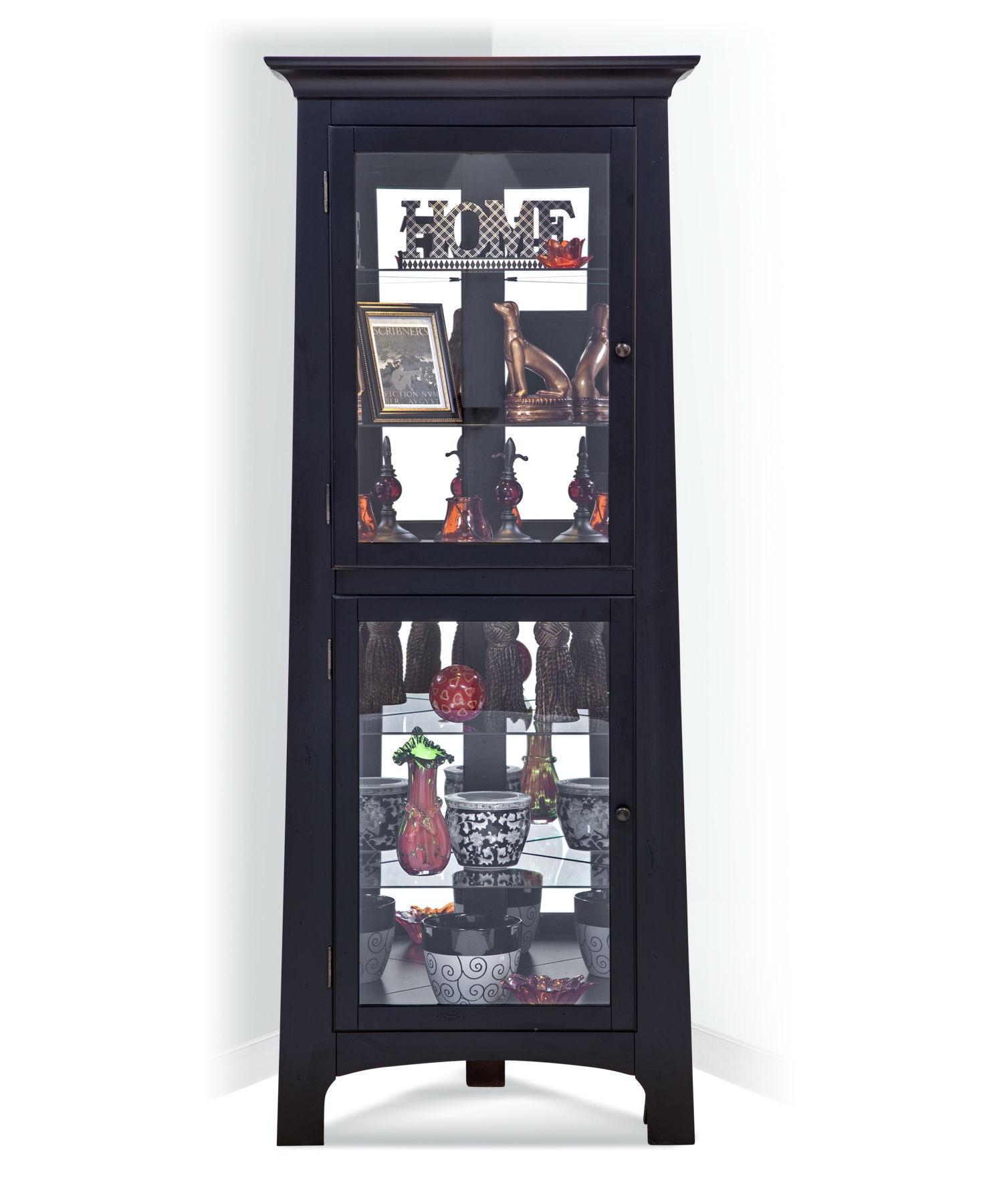 Philip Reinisch Lancaster I Corner Curio Cabinet 13357