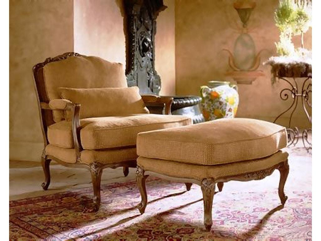 Henredon Living Room Memoir Ottoman H0079 O Stowers