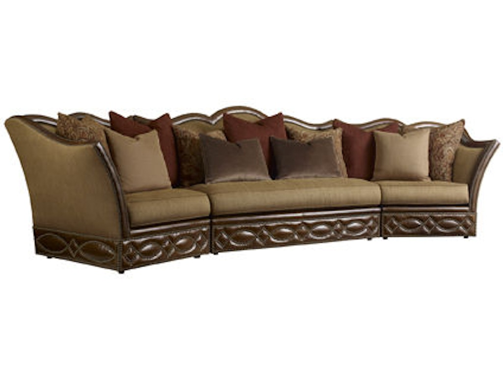 Henredon living room armless section il7705 y weinberger for K furniture mattress
