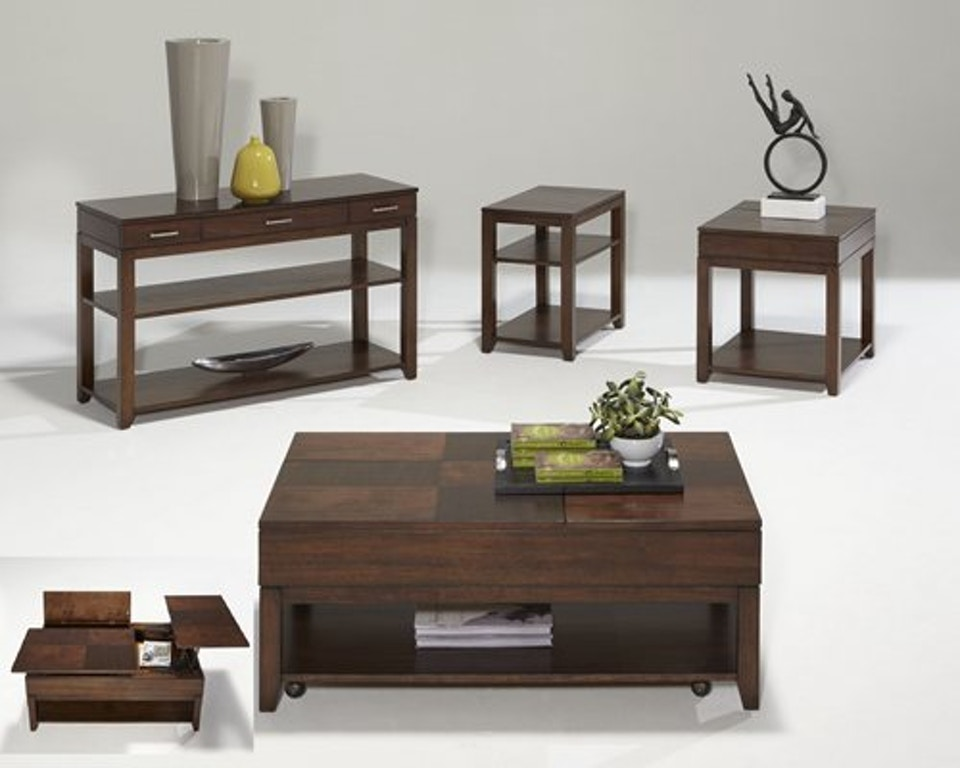 Progressive Furniture Living Room Double Lift Top Cocktail Table