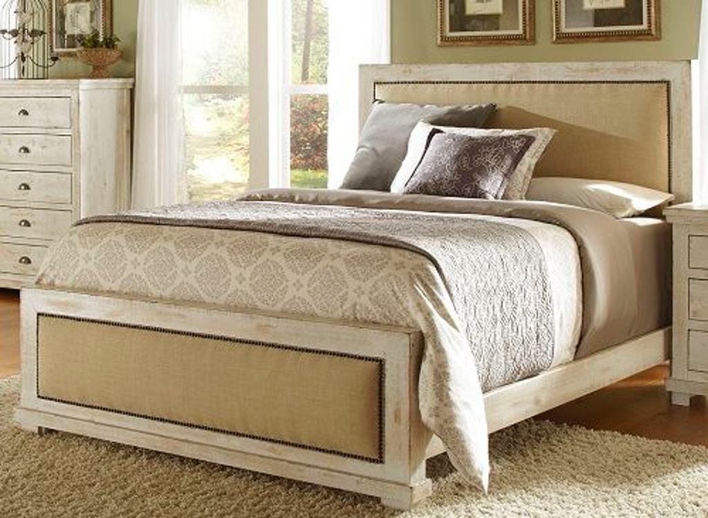 Progressive Furniture Bedroom Queen Upholstered Headboard