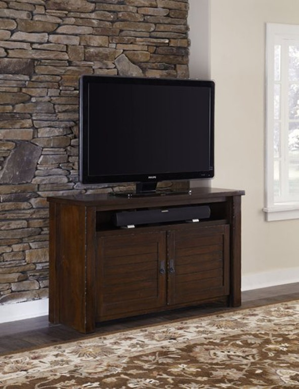 Progressive furniture home entertainment 54 inches console for Home theater furniture louisville ky