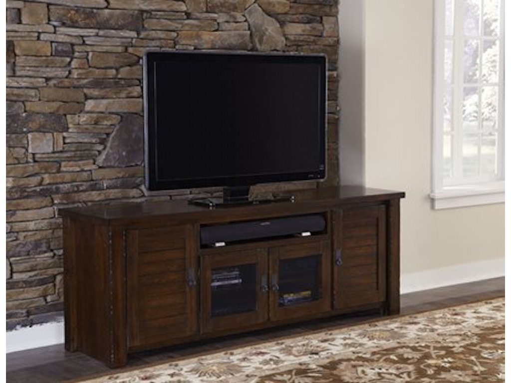 Progressive furniture home entertainment 74 inches console for Home theater furniture louisville ky