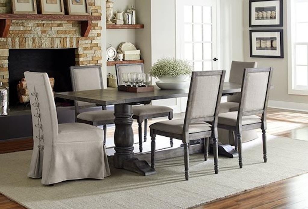 Progressive Furniture Upholstered Parsons Chair W Cover 2 Per Carton P836 60