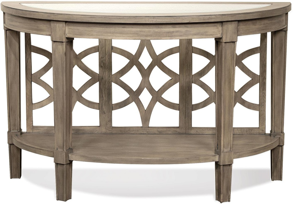 Admirable Riverside Living Room Demilune Sofa Table 15514 Gavigans Machost Co Dining Chair Design Ideas Machostcouk