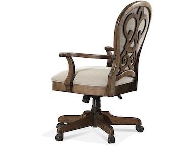 15839 Scroll Back Upholstered Desk Chair
