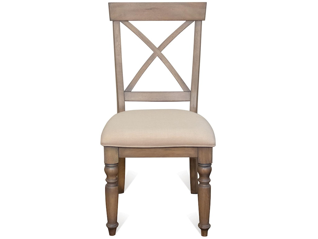 Riverside dining room x back side chair 21358 simply for X back dining room chairs