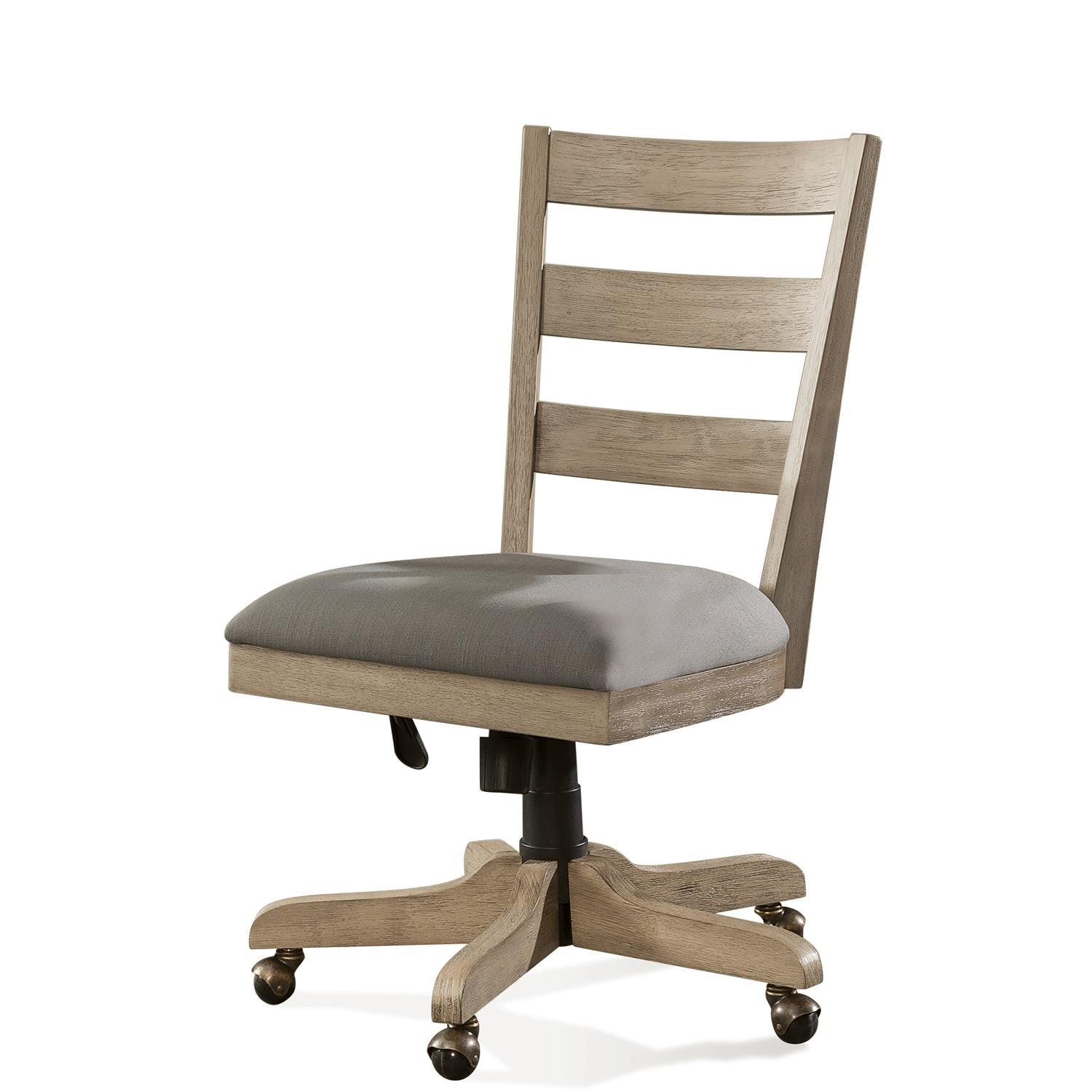 Image of: Wood Back Upholstered Desk Chair Rv28127