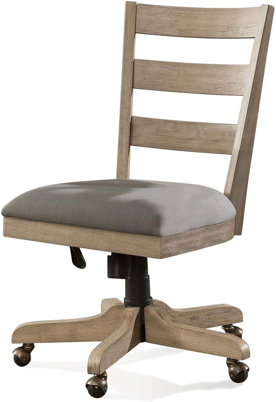 Wood Back Upholstered Desk Chair Rv28127