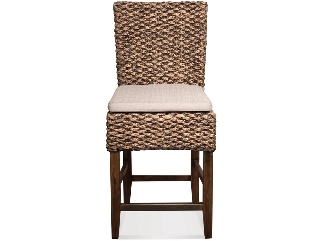 Riverside bar and game room woven leaf counter stool 36967 for Furniture yakima washington