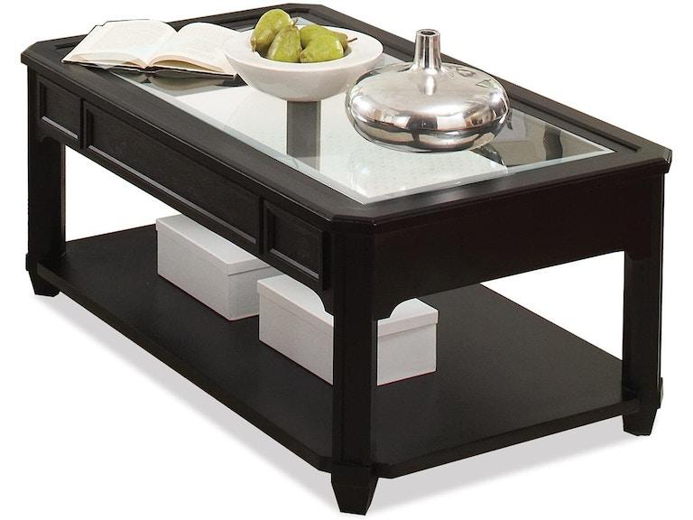 Riverside Living Room Rectangular Glass Top Coffee Table