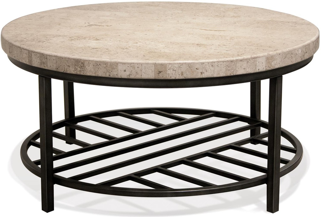 Riverside Living Room Round Coffee Table 77701 B F Myers Furniture Nashville Tn