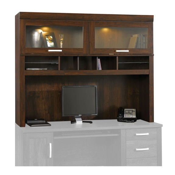 Sauder Hutch With Glass Doors 408292