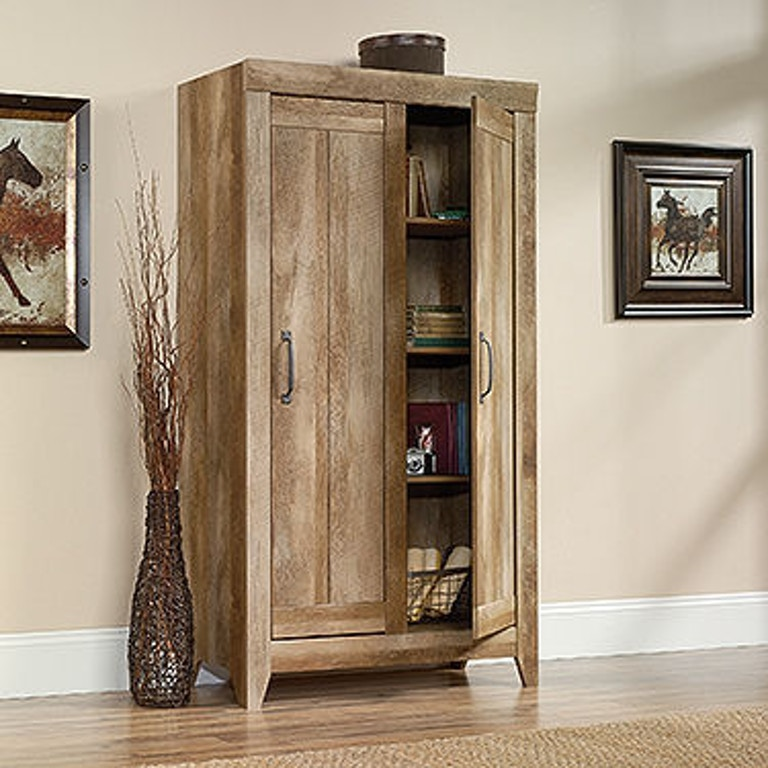 Sauder Living Room Wide Storage Cabinet 418141 Joe Tahans