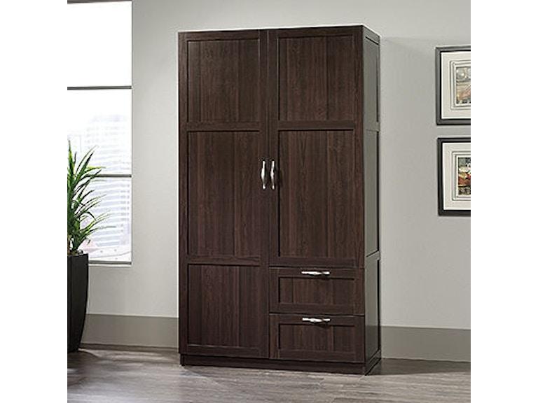 Sauder Home Office Wardrobestorage Cabinet 420055 Crown Furniture