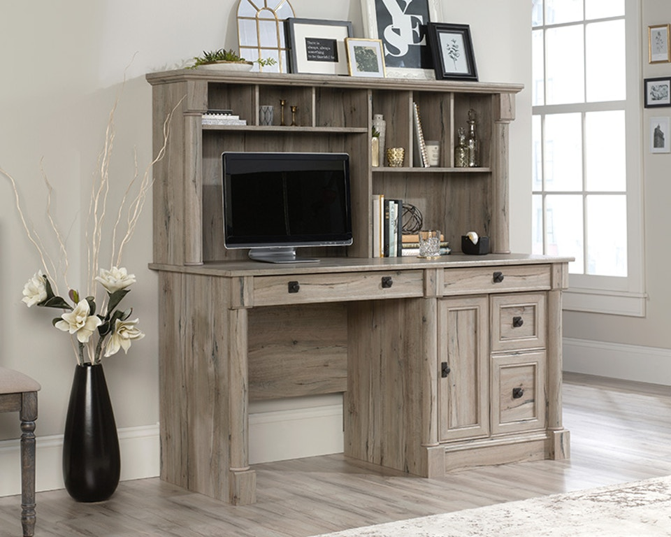Sauder Home Office Computer Desk With Hutch 424814 Crown