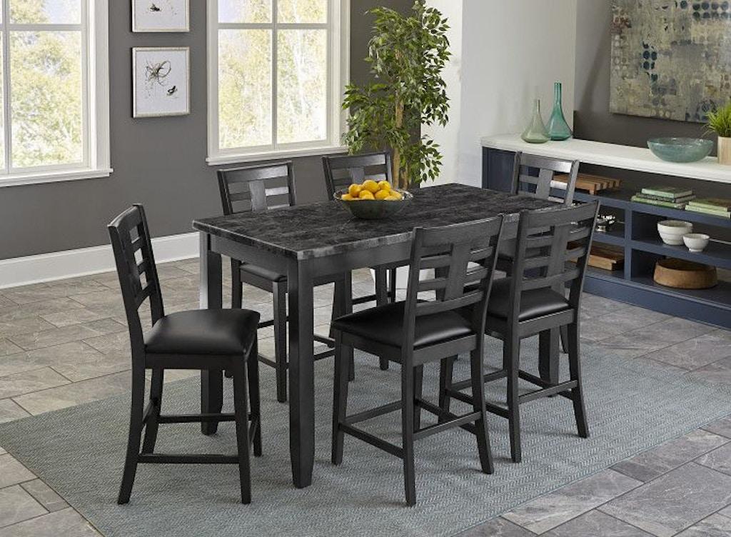 Standard Furniture Dining Room Counter Height 4 Pack Set 10276 Dewey Furniture Vermilion