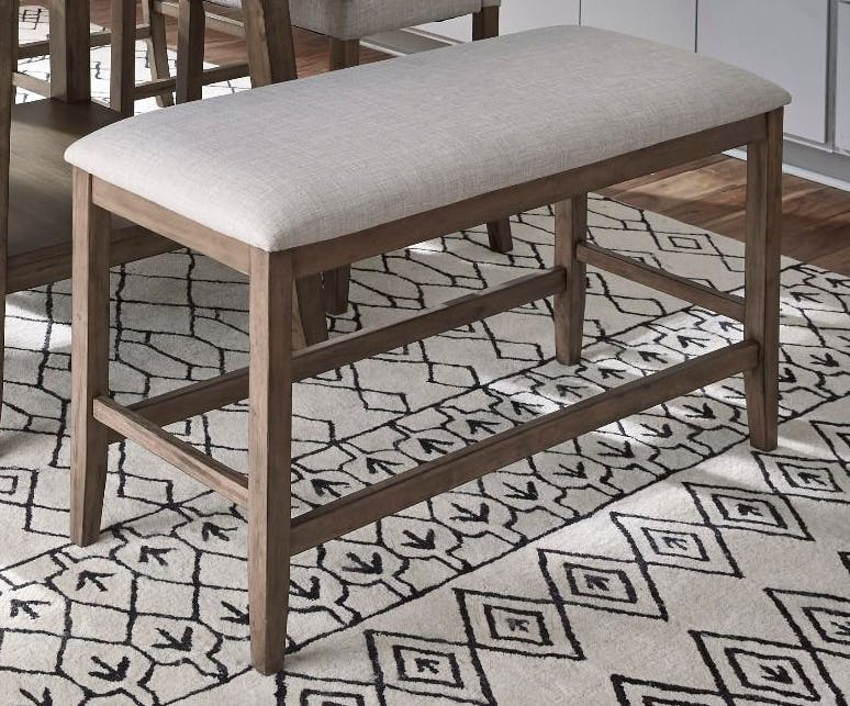 Picture of: Standard Furniture Dining Room Halden Counter Height Upholstered Bench Brown 13035 Valeri