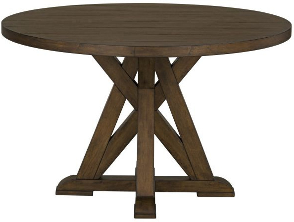 Standard Furniture Dining Room Round Pedestal Table 14641 Louis Mohana Furniture Bourg La