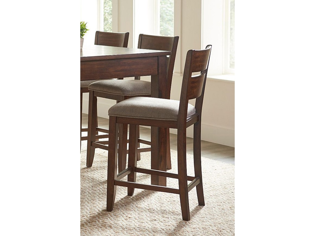 Standard Furniture Bar And Game Room Kyle Dark Counter Height Upholstered Barstool 16597 Valeri